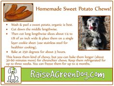 Homemade Sweet Potato Chews!