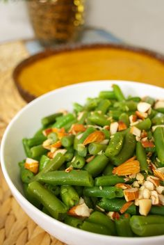 green beans with almonds more almonds green beans vegetable green ...