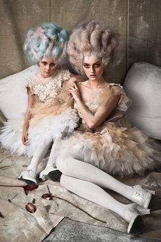 by Mladen Saric - Marie-Antoinette - Versailles - rococo - baroque Mode Rococo, Mode Baroque, Rococo Style, Marie Antoinette, Editorial Photography, Fashion Photography, Avant Garde Hair, Rococo Fashion, Style Fashion