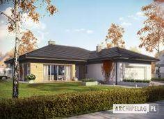 Projekt domu Eris II (wersja C) energo One Storey House, Villa Plan, 4 Bedroom House Plans, Brick Design, Gazebo, Sweet Home, Exterior, Outdoor Structures, Flooring