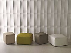UPHOLSTERED LEATHER POUF MANDRAGUE MANDRAGUE COLLECTION BY MOLTENI & C. | DESIGN FERRUCCIO LAVIANI