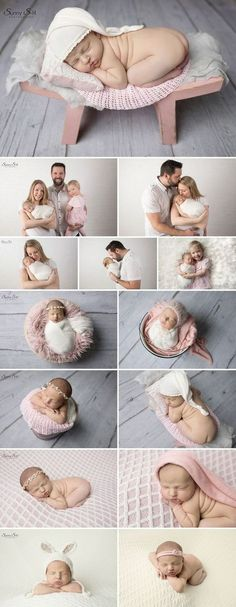 Super girly pink themed newborn photo shoot in studio with 10 day old Emily. Sunny S-H Photography Winnipeg