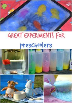 Great science experiments for kids, includes colour mixing with jelly, making a monster tea party, density activities, measuring and much more. Science Projects For Preschoolers, Science Activities For Kids, Preschool Science, Science Experiments Kids, Toddler Activities, Science Fun, Summer Activities, Preschool Crafts, Nanny Activities