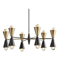 Stella Made-to-Order Brass Chandelier    From a unique collection of antique and modern chandeliers and pendants at https://www.1stdibs.com/furniture/lighting/chandeliers-pendant-lights/