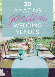 20 Amazing #GardenWedding Venues // CJ's Off the Square // Amy Nicole Photography // #Weddings