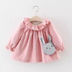 Cheap baby dress, Buy Quality little baby dresses directly from China girl baby dress Suppliers: R&Z Baby Girls Dresses 2017 Autumn Lovely Long-sleeved Lotus Leaf Collar Pocket Doll Dress + Bag Kids Children Clothing Fashion Kids, Baby Girl Fashion, Outfits Niños, Kids Outfits, Winter Outfits For Girls, Baby Girl Winter, Winter Newborn, Little Girl Dresses, Girls Dresses