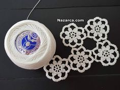 Crochet Doilies, Crochet Flowers, Baby Knitting Patterns, Ikat, Collars, Crochet Earrings, Projects To Try, Womens Fashion, Crafts