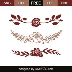 *** FREE SVG CUT FILE for Cricut, Silhouette and more *** Roses