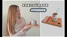 Como hacer decoupage en mates♥ Marina Capano Decoupage, Facebook, Youtube, Videos, Picture On Wood, Tutorials, Manualidades, Boards, Bricolage