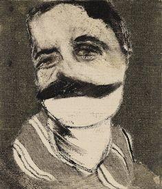 R.B. Kitaj, Portrait of Aby Warburg, 1958–1962 © R.B. Kitaj Estate