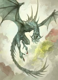 Untitled by douzen | Creatures from Dreams  Dragon of the West Deep Wyld