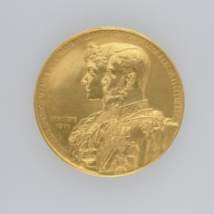 Russia. Medal commemorating the Marriage of Emperor Nicholas II (1868-1918) and Princess Alix of Hesse and by Rhine (1872-1918), 1894 Emperor, Russia, Marriage, Princess, Valentines Day Weddings, Weddings, Mariage, Wedding, Casamento