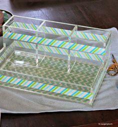 acrylic + washi tape, via Flickr