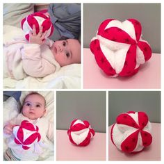 La balle de préhension Montessori {Tuto} | Je n'ai jamais pensé qu'on pouvait faire autrement ... Coin Couture, Baby Couture, Couture Sewing, Sewing For Kids, Baby Sewing, Diy For Kids, Diy Sewing Projects, Sewing Tutorials, Dou Dou
