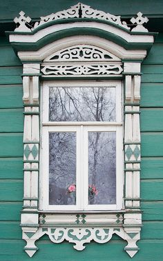 Russian wooden art. Window.