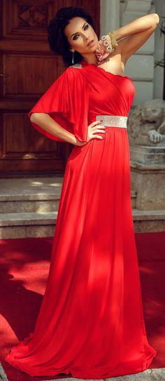 Atmosphere Fashion Romania One Shoulder, Sari, Formal Dresses, Romania, Fashion, Saree, Dresses For Formal, Moda, Formal Gowns