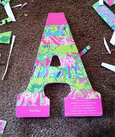 Got an old Lilly Pulitzer agenda? Use the pages with some mod podge to make cute crafts and gifts!