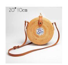 ZHIERNA 2017 Bohemian Summer Vintage Rattan Bag Handmade Crossbody bag  Straw Bags for Women Small Circle bag Beach Handbags d591f5073ae19