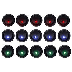 HOTSYSTEM 5*Blue+5*Red+5*Green Dot Led Light Round Rocker Toggle Switch Spst On-Off Control for Car Truck - http://www.caraccessoriesonlinemarket.com/hotsystem-5blue5red5green-dot-led-light-round-rocker-toggle-switch-spst-on-off-control-for-car-truck/  #5Blue5Red5Green, #Control, #HOTSYSTEM, #Light, #OnOff, #Rocker, #Round, #Spst, #Switch, #Toggle, #Truck #All-Green-Automotive, #Green-Automotive