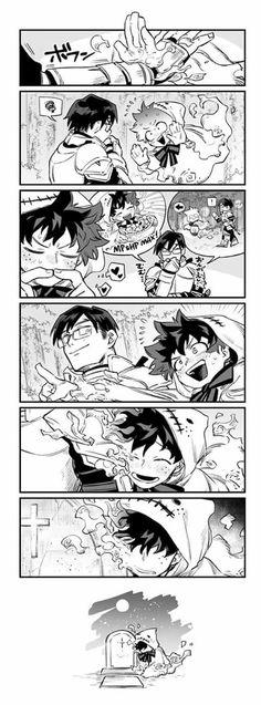 Boku no hero academia : Iida & Midoriya Boku No Hero Academia, My Hero Academia Memes, Hero Academia Characters, My Hero Academia Manga, Sad Comics, Anime Comics, Asui Boku No Hero, Boko No, Villain Deku