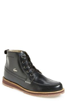 Lacoste 'Marceau 5' Apron Toe Boot (Men) available at #Nordstrom