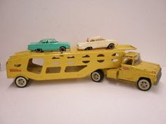 Tonka Car Carrier, I had this. I have this minus the Falcons. Would like to find some. Tonka Trucks, Tonka Toys, Childhood Toys, Childhood Memories, Vintage Stuff, Vintage Toys, Toy Cupboard, Marble Toys, 1980 Toys