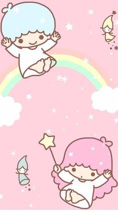 little twin stars 60 Sanrio Wallpaper, Pink Wallpaper Anime, My Melody Wallpaper, Cute Pastel Wallpaper, Star Wallpaper, Hello Kitty Wallpaper, Kawaii Wallpaper, Hello Kitty Characters, Sanrio Characters