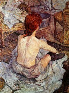 "Toulouse Lautrec - ""After bathing"""