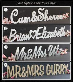 FREESTANDING CUSTOM RAW MDF WOODEN LETTER WEDDING NAME Personalised wood cutout | eBay