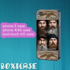 Duck Dynasty---iphone 4 case,iphone 5 case,ipod touch 4 case,ipod touch 5 case,in plastic,silicone and black , white. by Boxicase, $14.95