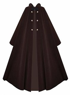 New Trending Outerwear: Victorian Vagabond Hooded Steampunk Gothic Medieval Cape Cloak (Brown). Victorian Vagabond Hooded Steampunk Gothic Medieval Cape Cloak (Brown)  Special Offer: $89.00  211 Reviews Made Entirely of Outerwear Weighted Velour, with Reproduction Antiqued Brass ButtonsUnlined – Lightweight Enough for All Year RoundSuitable for Men or Womenery Versatile...