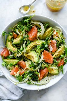 Grapefruit Avocado and Fennel Salad