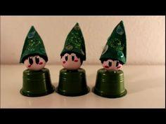 DIY: Weihnachten / Advent: Wichtel und Zwerge basteln Upcycling Kaffeekapseln Tchibo oder Nespresso - YouTube