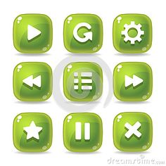 Button Games Icons