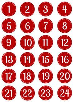 Advent Calendar Gifts, Advent Calendars For Kids, Advent Calenders, Kids Calendar, Diy Christmas Garland, Noel Christmas, Christmas Decorations To Make, Calendar Numbers, Printable Calendar Template