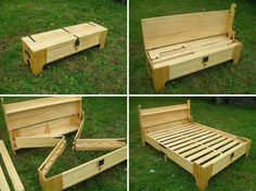 The Best DIY Wood and Pallet Ideas: Looking for some easy-to-hide space for guests? Add an air mattress and youre set for company! Diy Pallet Projects, Pallet Ideas, Wood Pallet Crafts, Diy Pallet Bed, Woodworking Plans, Woodworking Projects, Learn Woodworking, Woodworking Techniques, Woodworking Furniture