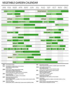 Courtesy Jen Christensen. The amazing gardening chart she put together for gardening in zone 8, TX.
