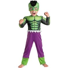 The Avengers Assemble Hulk Toddler Costume Toddler is the best 2019 Halloween costume for you to get! Everyone will love this Baby/Toddler costume that you picked up from Wholesale Halloween Costumes! Hulk Halloween Costume, Original Halloween Costumes, Wholesale Halloween Costumes, Superhero Halloween, Toddler Halloween Costumes, Baby Costumes, Hulk Superhero, Halloween 2013, Costumes