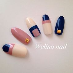 "秋冬だってピンクネイル♡""スモーキー&おフェロ""な指先 in 2020 Fancy Nails, Cute Nails, Pretty Nails, Fabulous Nails, Gorgeous Nails, Asian Nails, Color Block Nails, Geometric Nail, Japanese Nails"