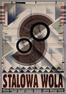 Ryszard Kaja - Stalowa Wola, plakat z serii Polska, Ryszard Kaja