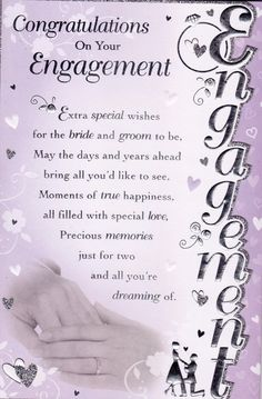 Congratulations On Your Engagement Greeting Card - Engagement quotes congratulations - Engagement Ring Engagement Congratulations Message, Engagement Card Message, Engagement Greetings, Engagement Wishes, Engagement Cards, Engagement Pictures, Congratulations Card, Engagement Ideas, Engagement Rings