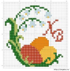 "Photo from album ""Пасхальные яйца"" on Yandex. Cross Stitch Bookmarks, Mini Cross Stitch, Cross Stitch Heart, Cross Stitch Cards, Cross Stitching, Cross Stitch Embroidery, Needlepoint Patterns, Embroidery Patterns, Cross Stitch Designs"
