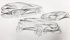 Concepual sketches of suv's