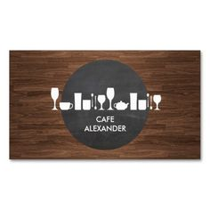 Bakery, Bar, Cafe Life on Rustic Background Double-Sided Standard Business Cards (Pack Of 100)