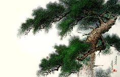(North Korea) A Pine by Choi il-bong (1964-  )
