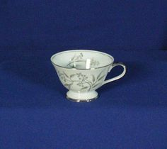 Grace China Japan Alyson Pattern 566 White Footed Tea Cup Teacup bfe1689 #GraceChina