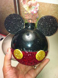 DIY Mickey Mouse Christmas Ornaments