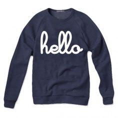 HELLO Navy Pullover