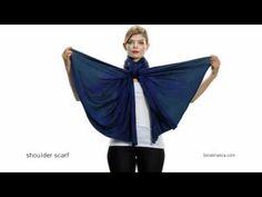Video - Blue Womens Shoulder Scarf - How to Make The Bina a Shoulder Scart