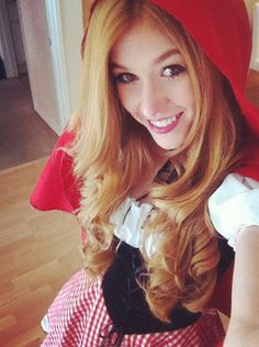 Kat McNamara Dressed As Little Red Riding Hood Again For The 2012 Dream Halloween Party
